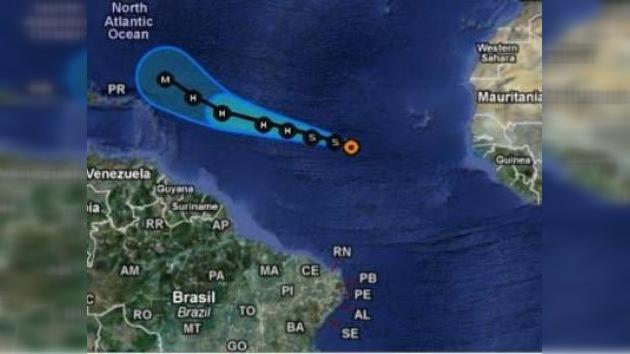 La tormenta tropical 'Katia' da sus primeros pasos sobre el Atlántico