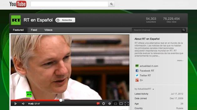 RT es el primer productor de noticias en YouTube, revela un estudio del Centro Pew