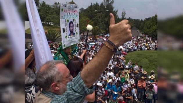 Las víctimas de la violencia en México exigen que se trabaje por la paz