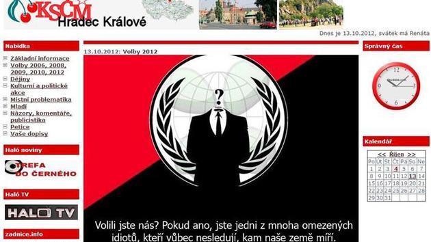 Anonymous carga contra los comunistas checos tras su triunfo y 'retoca' su portal