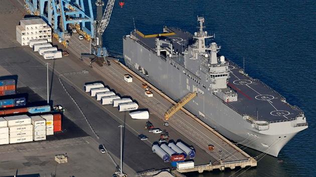 El ministro de Defensa de Francia desmiente la entrega del Mistral el 14 de noviembre