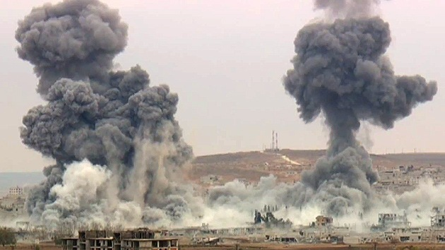 Impactante video: Devastadores bombarderos de EE.UU. reducen Kobani a escombros