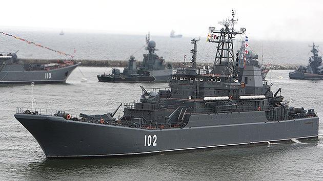 Rusia envía dos buques de desembarco al puerto sirio de Tartus