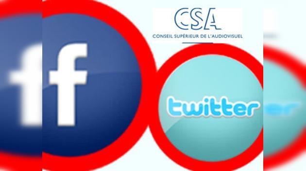 Prohíben la mención de 'Facebook' y 'Twitter' en la TV de Francia