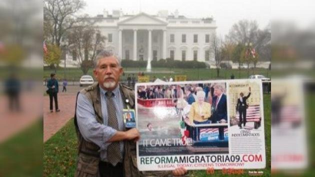 Huelga de hambre frente a la Casa Blanca por reforma migratoria