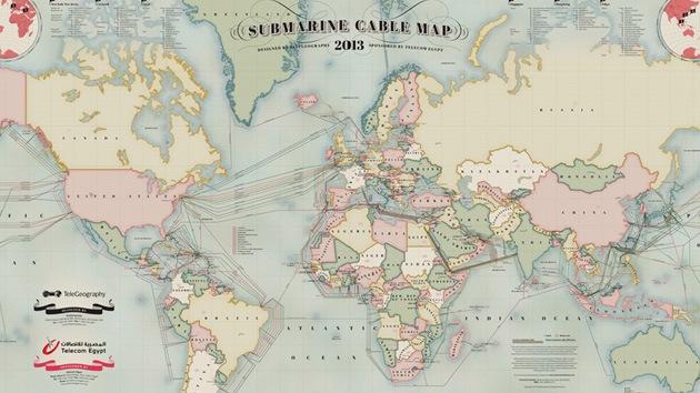 Revelan la oculta maraña de cables submarinos que unen los continentes