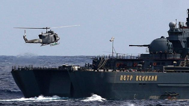 Un crucero nuclear ruso y un barco patrulla chino inician maniobras en el Mediterráneo