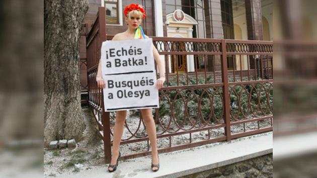 Feminismo ucraniano sugiere a los bielorrusos que busquen a Olesya