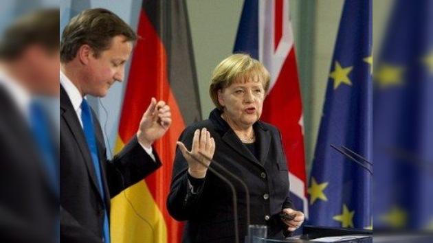 Merkel y Cameron no se ponen de acuerdo sobre el futuro de Europa