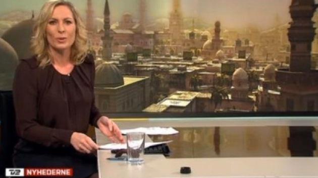 Un canal danés ilustra un reportaje de Siria con la imagen de un videojuego