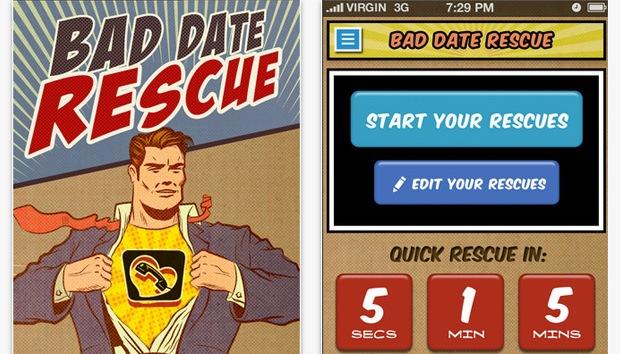Una nueva aplicación móvil facilita la huida de una cita desastrosa