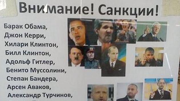"""Rusos responden a las sanciones de EE.UU.: """"A Obama le está prohibido tocar a mi gato"""""""