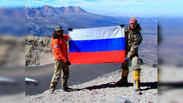 Una expedición rusa conquista tres volcanes activos en México