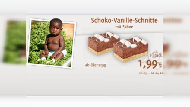 Una publicidad de pasteles de chocolate con imágenes de bebé negro provoca polémica