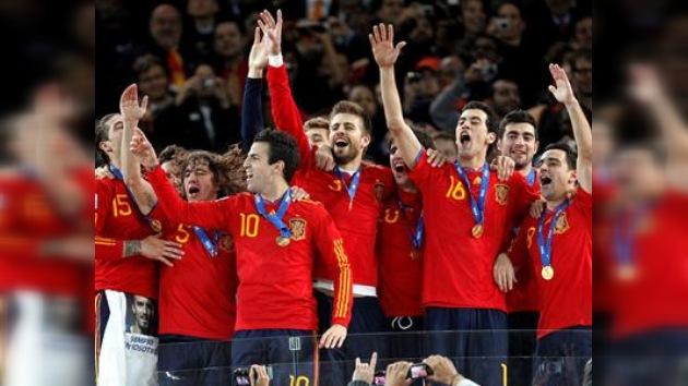 La selección de España recibió 1.734 litros de cerveza por ganar el Mundial