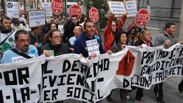 España: Miles de personas protagonizan una manifestación en la Bahía de Cádiz