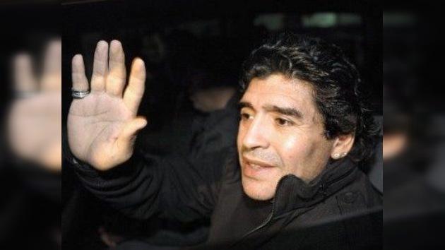 Diego Maradona, herido leve en un accidente de tránsito en Buenos Aires