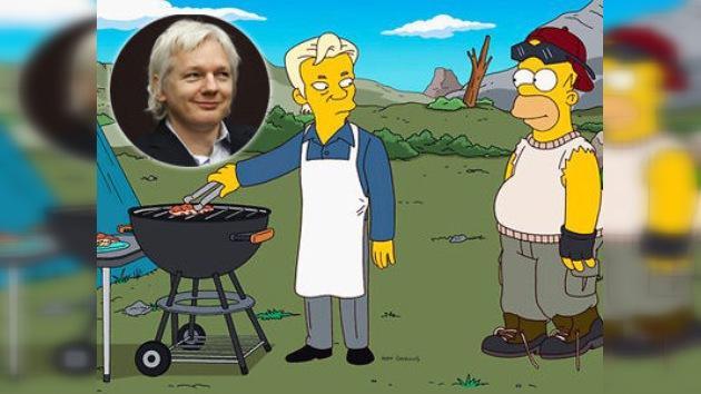 Los Simpson, al exilio junto a Julian Assange