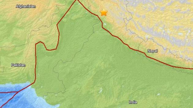 Un sismo de 5,4 grados sacude el norte de la India