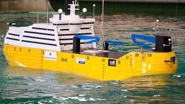 Construyen un barco inmune al oleaje