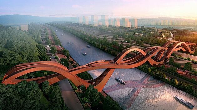 Fotos: Construyen un impresionante puente 'infinito' en China