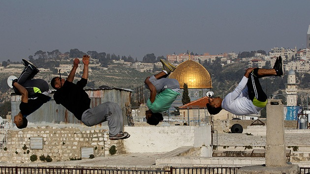 El parkour pisa fuerte en Jerusalén