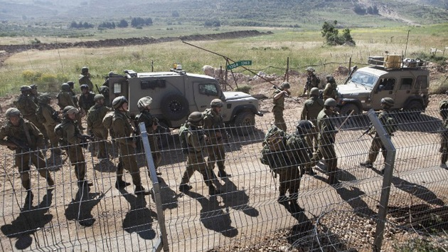 Israel realizó ejercicios militares a gran escala en una zona fronteriza con Siria
