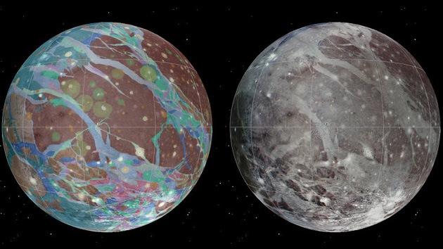 Video: Revelan el primer mapa de Ganímedes, la luna más grande del Sistema Solar