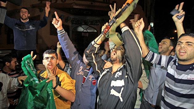 En vivo: Los palestinos celebran la tregua en Gaza