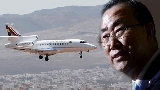 El secretario general de la ONU insta a discutir el incidente con el avión de Morales