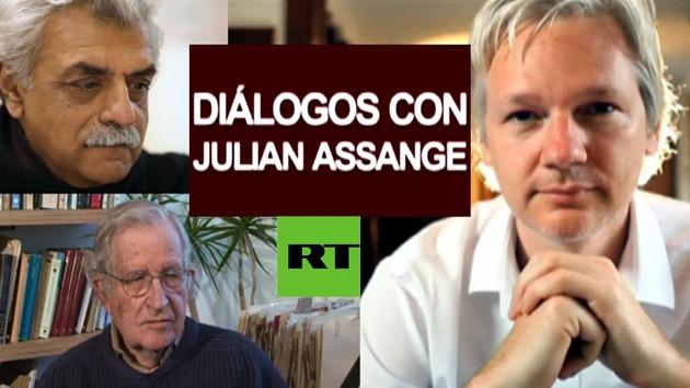 Assange analiza las lecciones de la 'primavera árabe' con Noam Chomsky y Tariq Ali
