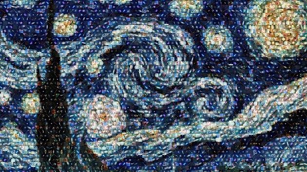 Fotos: 'La noche estrellada' de Van Gogh se llena de galaxias