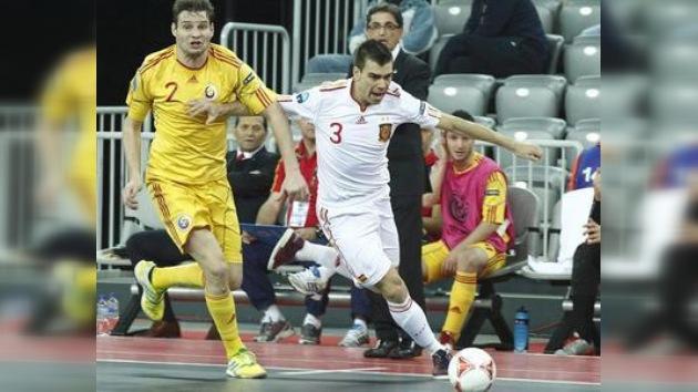 Rusia definirá el título europeo de fútbol sala frente a España