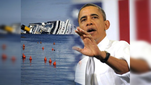Republicanos comparan a Obama con el capitán del Costa Concordia