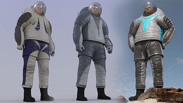 Un traje fluorescente para pisar Marte
