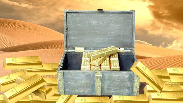 Muammar Gaddafi habría dejado un tesoro escondido en el desierto