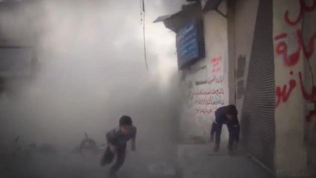 Video: Una bomba estalla junto a unos niños sirios mientras estaban siendo entrevistados