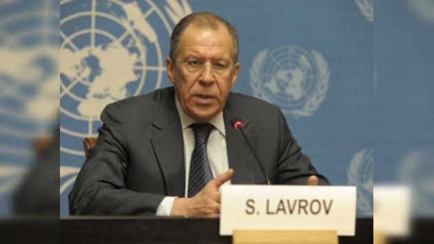 Lavrov se reunirá con los representantes de la oposición libia