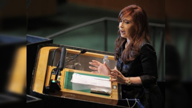 Cristina Kirchner compara la situación de Malvinas con la de Palestina