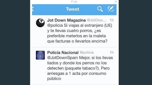 """Portavoz policial que publicó en Twitter consejos sobre los porros: """"Metí la pata"""""""