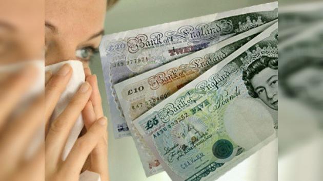 Una británica es alérgica al dinero