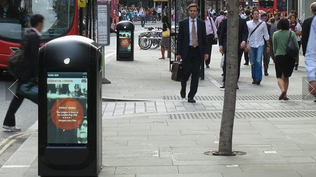 Papeleras de Londres extraen datos de los teléfonos de los transeúntes por Wi-Fi