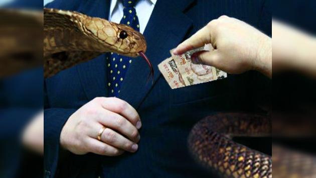 Serpientes venenosas contra la corrupción en la India