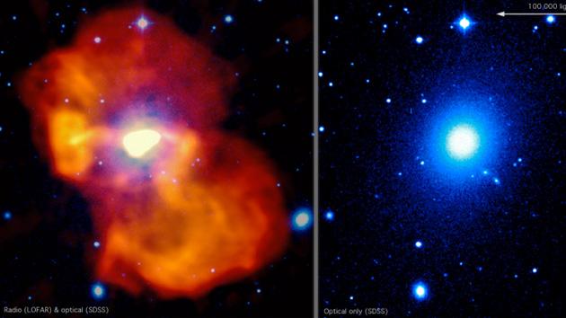 Maravillas del Universo: Captan imagen de burbuja gigante generada por un agujero negro