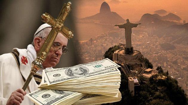 La visita del papa Francisco le costará a Brasil 59 millones de dólares