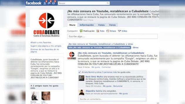 Facebook cierra una página que denuncia la censura de Youtube a Cubadebate