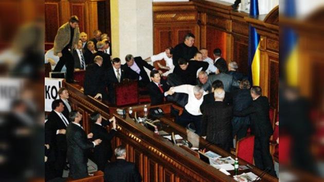 Duermen en el sitio de la pelea: el Parlamento de Ucrania