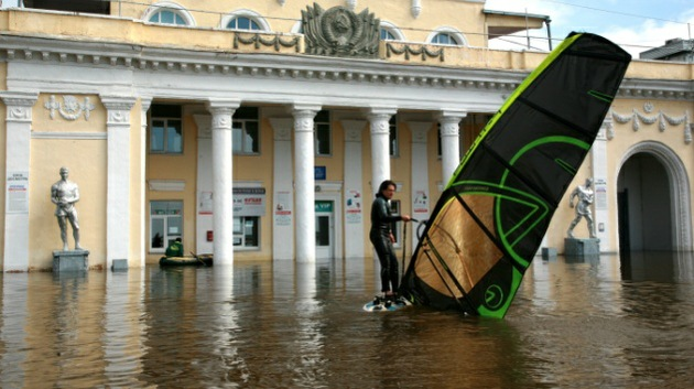 Fotos: Lucha contra las aguas en el Oriente Lejano de Rusia