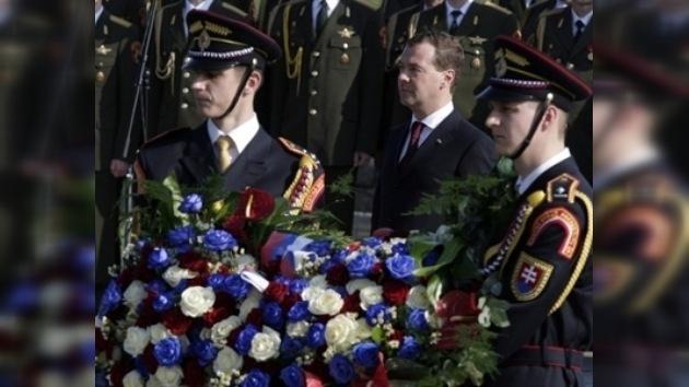 Medvédev recordó el precio que pagó Rusia por la libertad de Europa