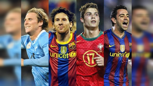 Messi, Ronaldo, Xavi, Forlán entre los candidatos al Balón de Oro 2010